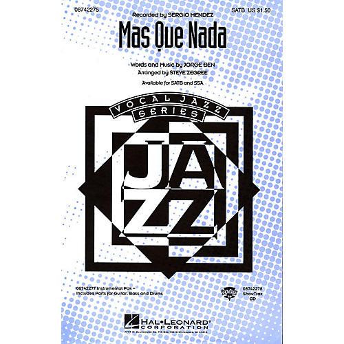 Hal Leonard Más Que Nada IPAKR by Sergio Mendes Arranged by Steve Zegree thumbnail