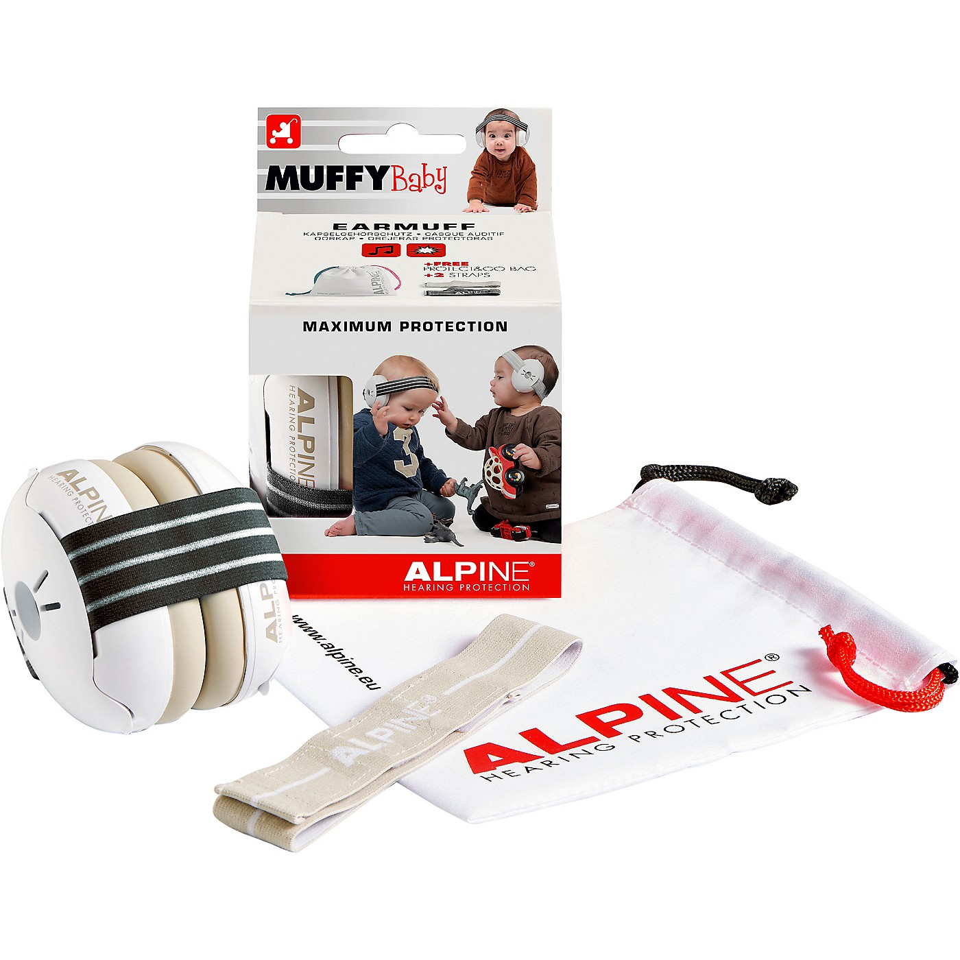 Alpine Hearing Protection Muffy Baby Black Protective Headphones thumbnail