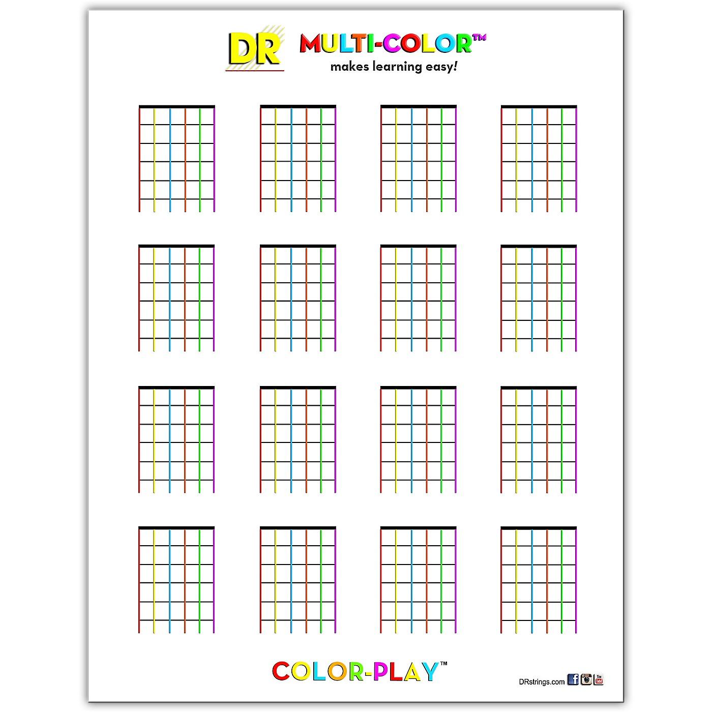 DR Strings Multi-Color Chord Chart thumbnail