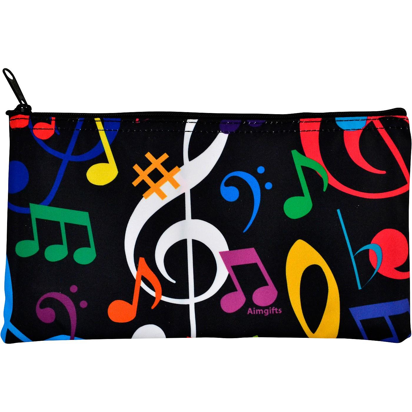 AIM Multi Color Music Note Zipper Pouch thumbnail