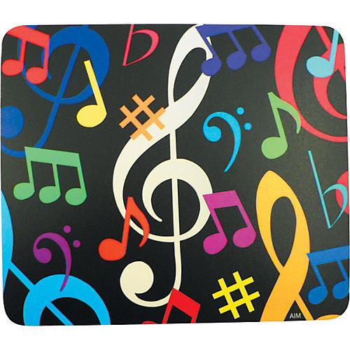 AIM Multi-Color Music Notes Mousepad thumbnail