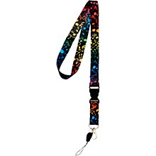 AIM Multi Colored Music Notes Lanyard