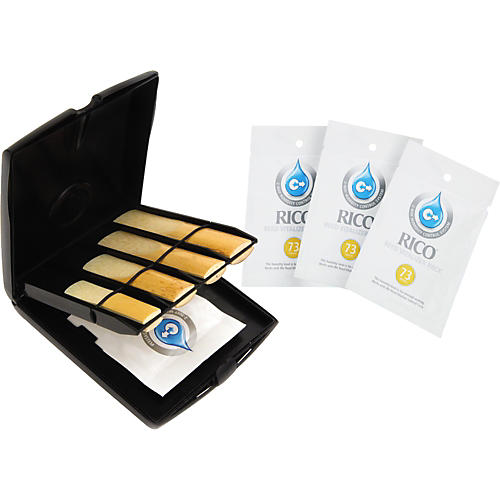 Rico Multi-Instrument Reed Case with 3 Vitalizer Refills thumbnail