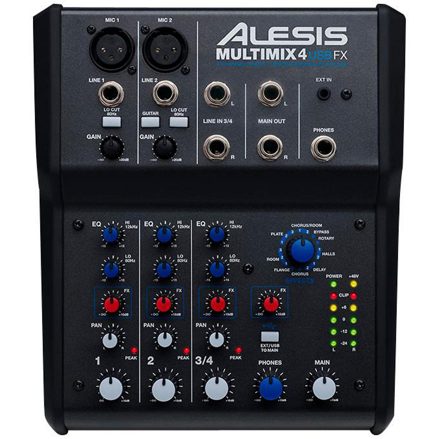 Alesis MultiMix 4 USB FX 4-Channel Mixer with Effects & USB Audio Interface thumbnail