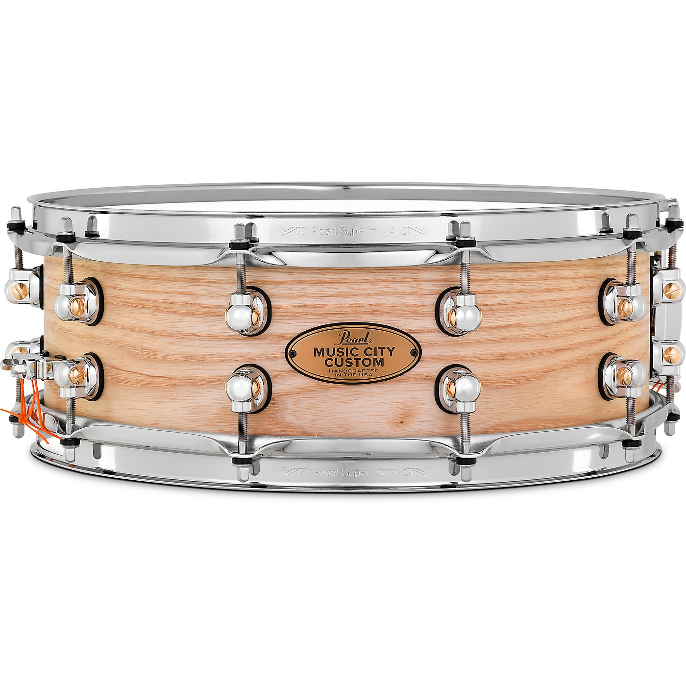 Pearl Music City Custom Solid Shell Snare Ash in Hand-Rubbed Natural Finish thumbnail