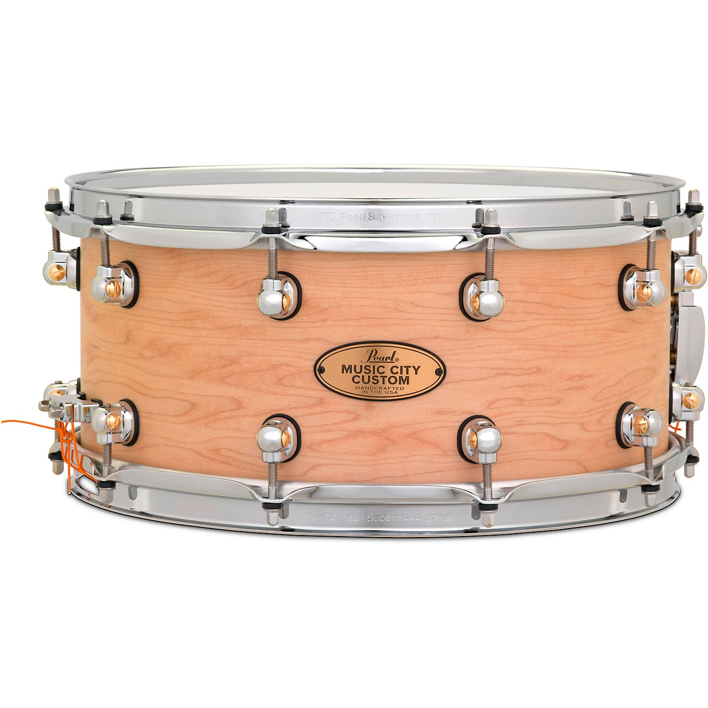Pearl Music City Custom Solid Shell Snare Maple in Hand-Rubbed Natural Finish thumbnail