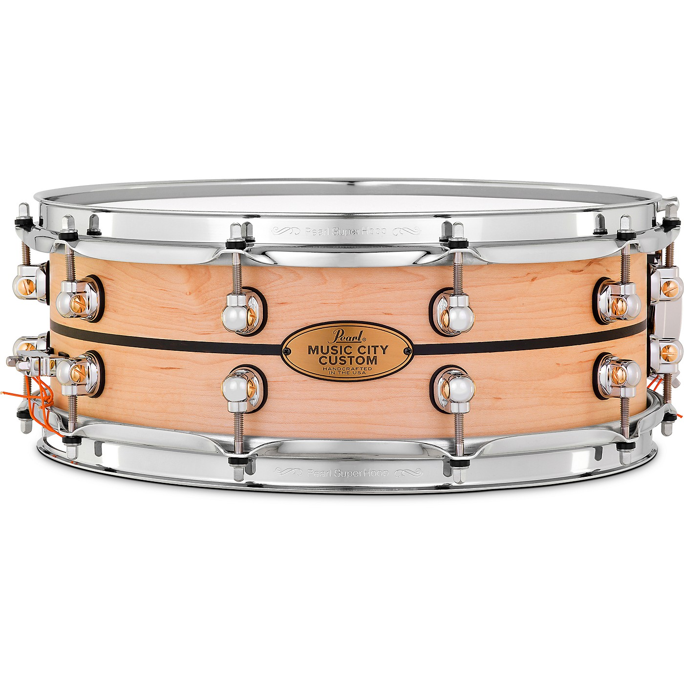 Pearl Music City Custom Solid Shell Snare Maple with Ebony Inlay thumbnail