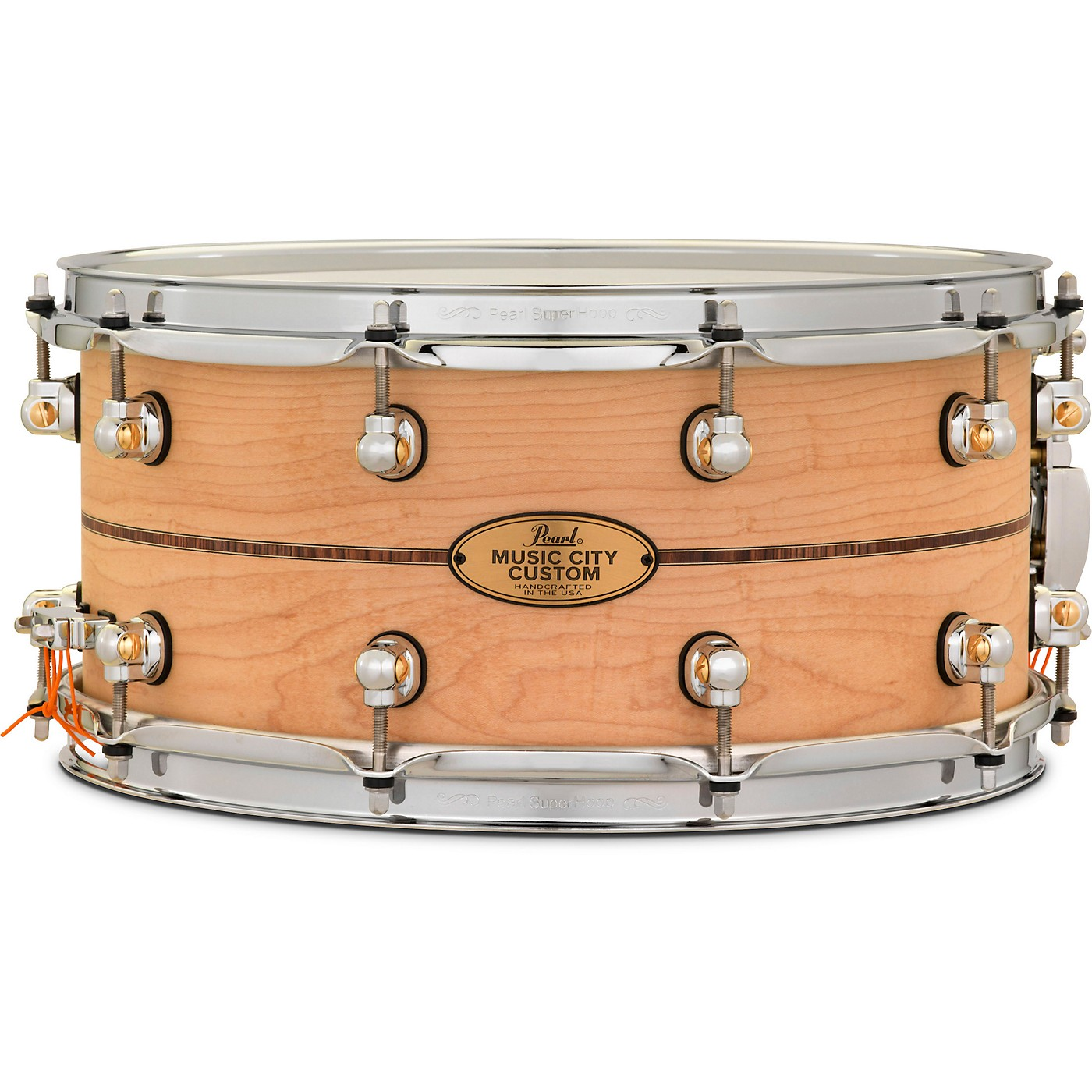 Pearl Music City Custom Solid Shell Snare Maple with Kingwood Center Inlay thumbnail