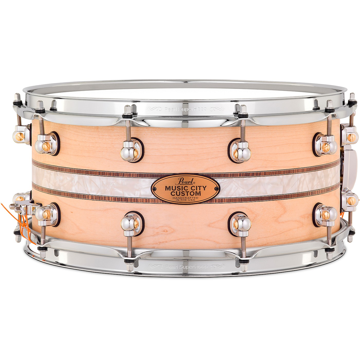Pearl Music City Custom Solid Shell Snare Maple with Kingwood Royal Inlay thumbnail