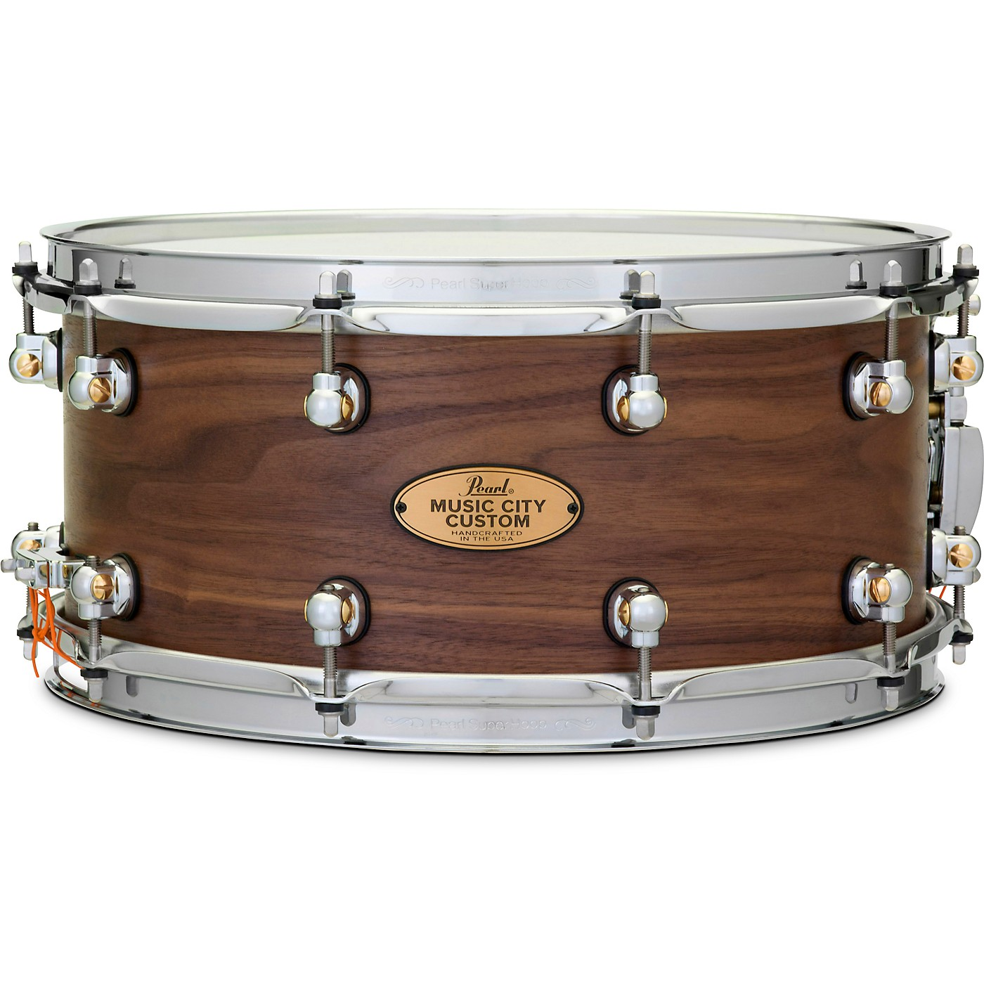 Pearl Music City Custom Solid Shell Snare Walnut in Hand-Rubbed Natural Finish thumbnail