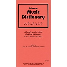 SCHAUM Music Dictionary Educational Piano Series Softcover