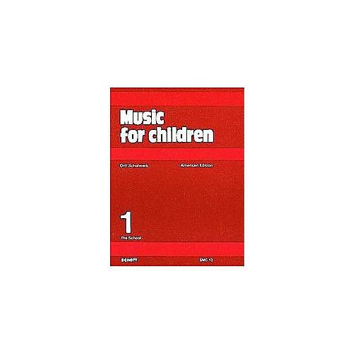 Schott Music For Children Volume 1: Preschool by Carl Orff and Gunild Keetman thumbnail
