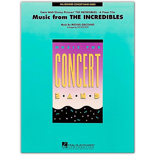 Hal Leonard Music From The Incredibles - Concert Band Level 4 - 5 thumbnail