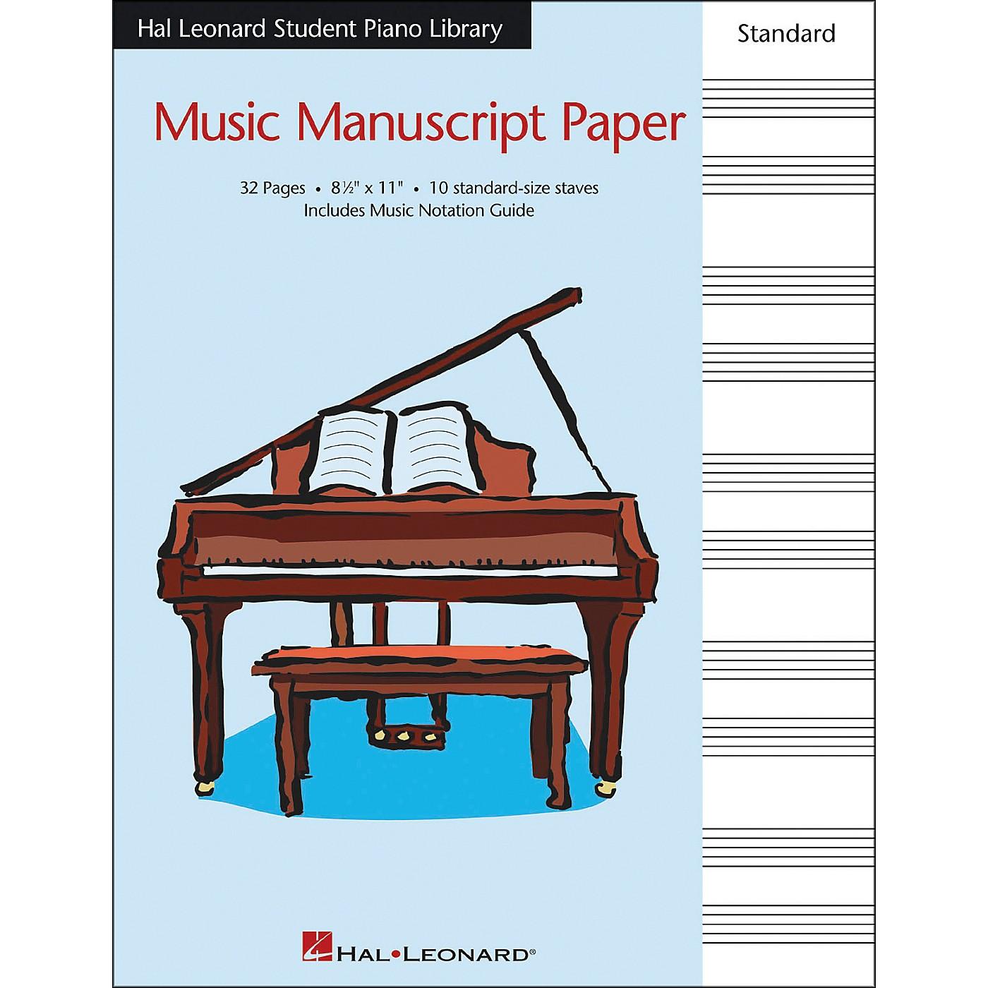 Hal Leonard Music Manuscript Paper Standard Size Staves 8.5 X 11 Hal Leonard Student Piano Library thumbnail