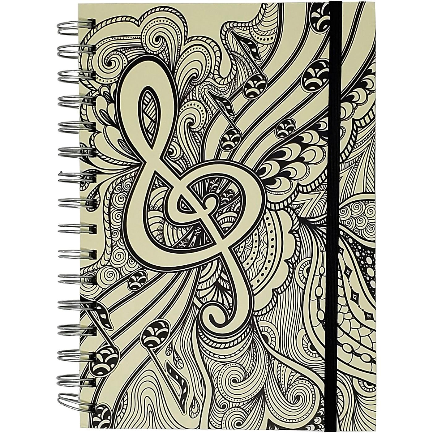 Pyramid America Music Note Line Sketch Premium Journal thumbnail