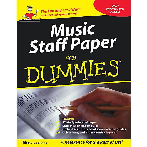 Hal Leonard Music Staff Paper For Dummies thumbnail