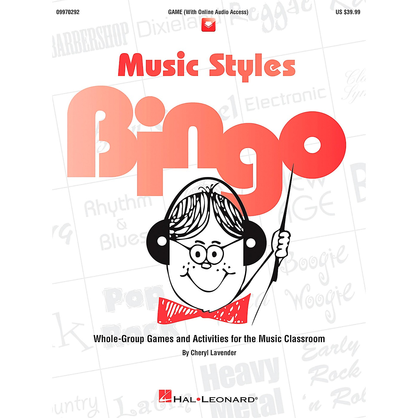 Hal Leonard Music Styles Bingo Games And Activities Game/CD thumbnail