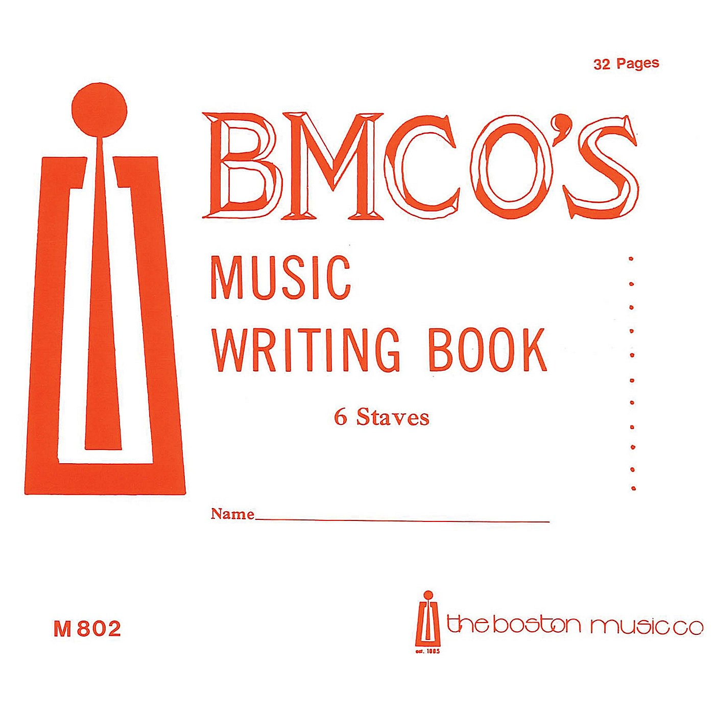 Music Sales Music Writing Book 6 Stave 32 P. Music Sales America Series thumbnail