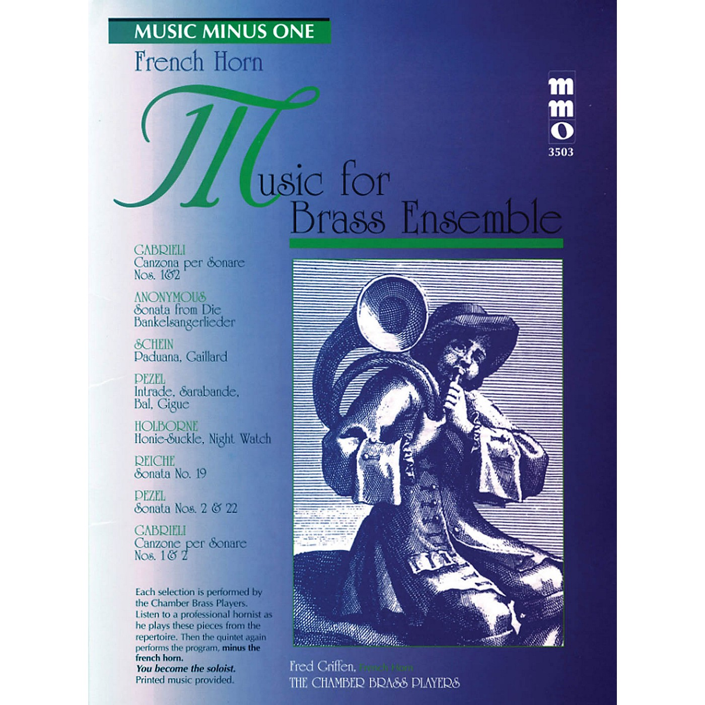 Music Minus One Music for Brass Ensemble Music Minus One Series Softcover with CD Composed by Various thumbnail