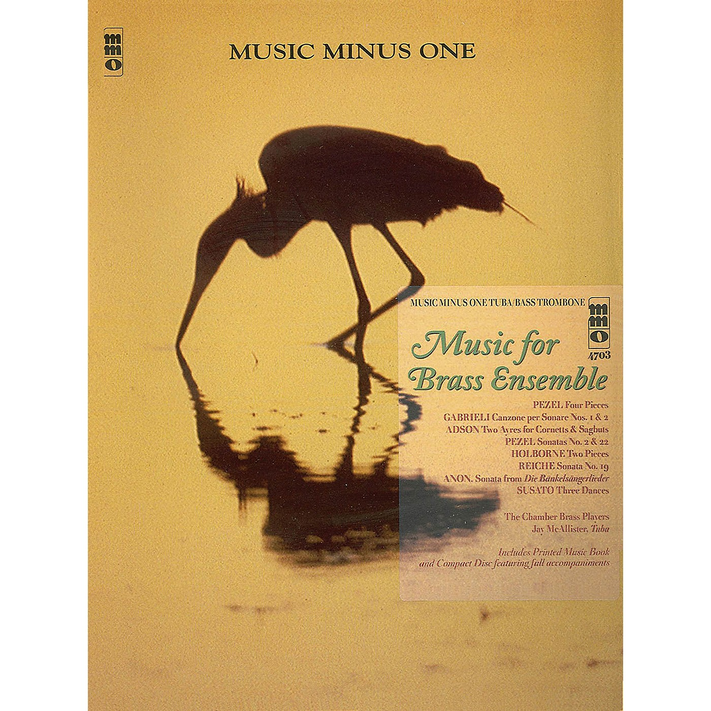 Music Minus One Music for Brass Ensemble (Music Minus One Tuba/Bass Trombone) Music Minus One Series Softcover with CD thumbnail