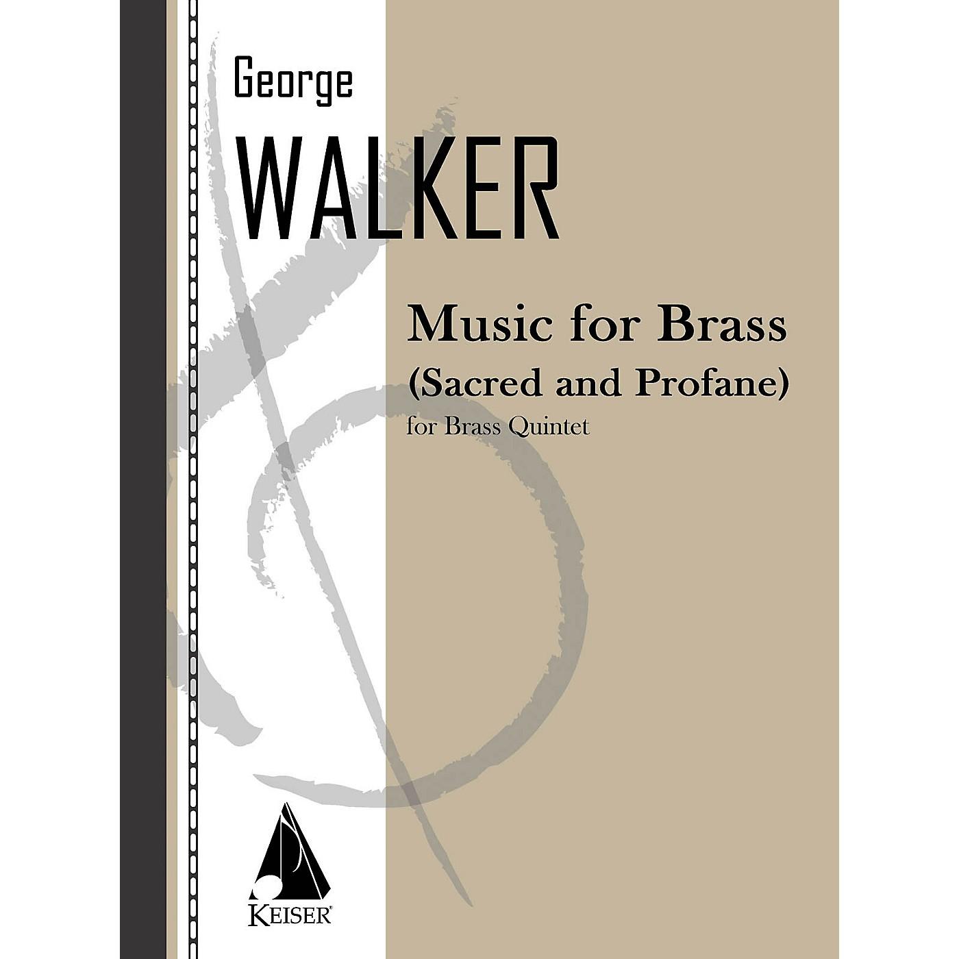 Lauren Keiser Music Publishing Music for Brass (Sacred and Profane) LKM Music Series by George Walker thumbnail
