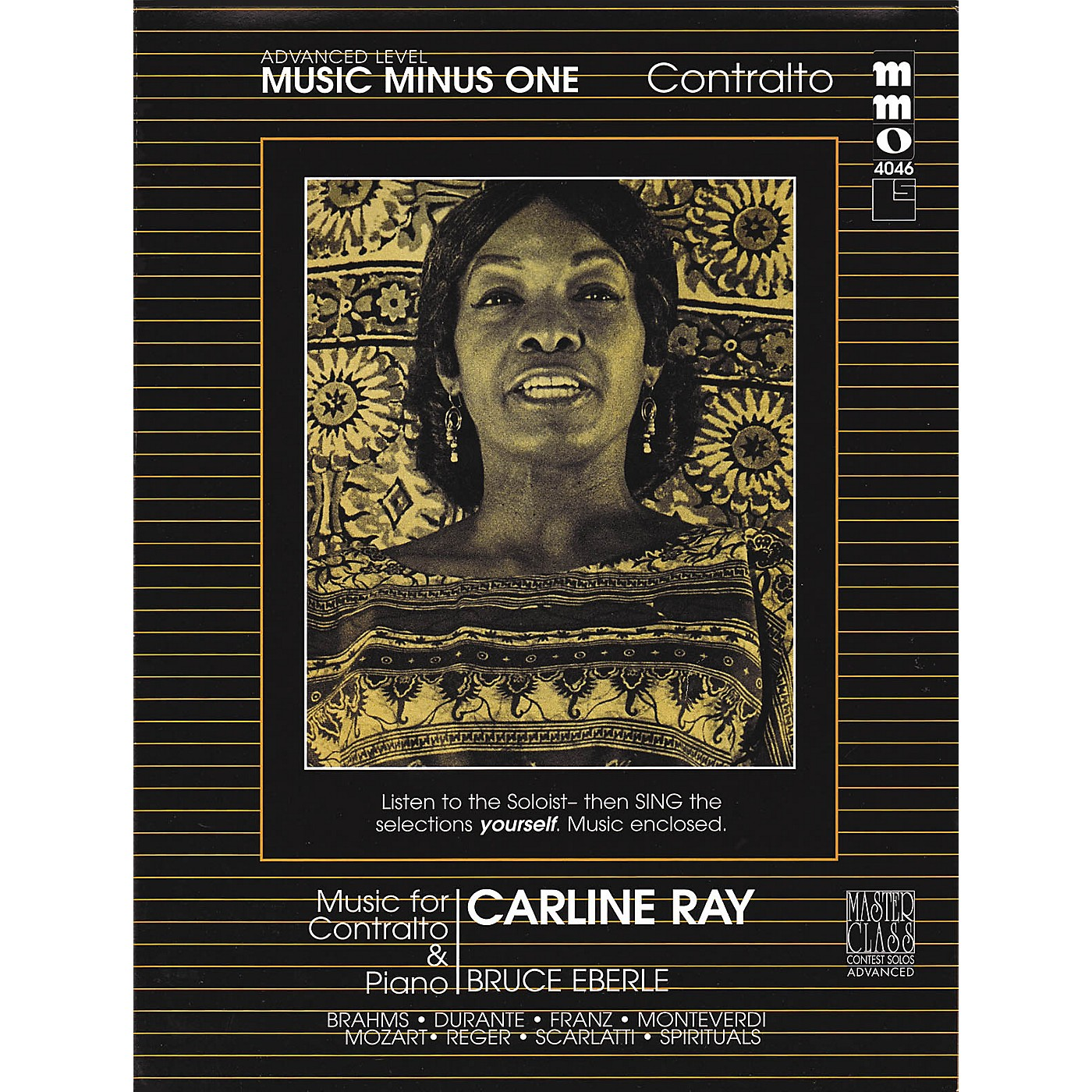 Music Minus One Music for Contralto & Piano Music Minus One Series Softcover with CD thumbnail