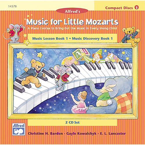 Alfred Music for Little Mozarts CD 2-Disc Sets for Lesson and Discovery Books Level 1 thumbnail