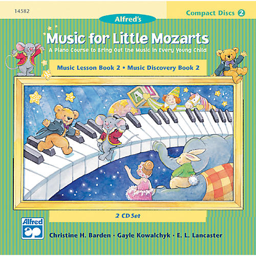 Alfred Music for Little Mozarts CD 2-Disk Sets for Lesson and Discovery Books Level 2 thumbnail