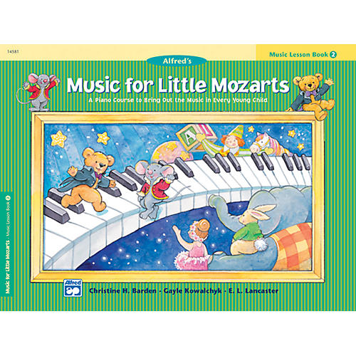 Alfred Music for Little Mozarts Music Lesson Book 2 thumbnail