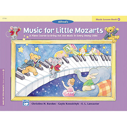 Alfred Music for Little Mozarts: Music Lesson Book 4 thumbnail