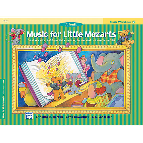 Alfred Music for Little Mozarts Music Workbook 2 thumbnail