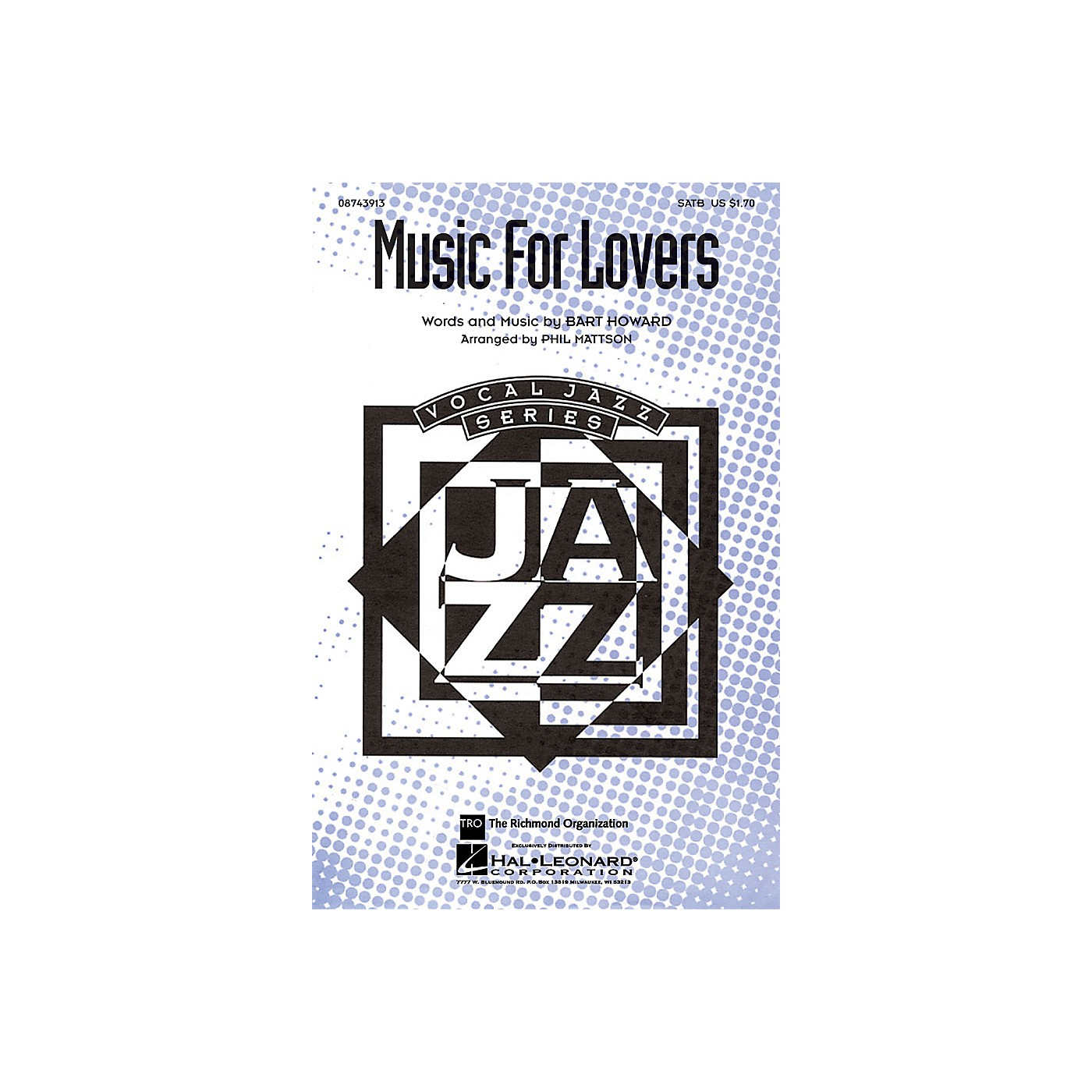 Hal Leonard Music for Lovers SATB arranged by Phil Mattson thumbnail