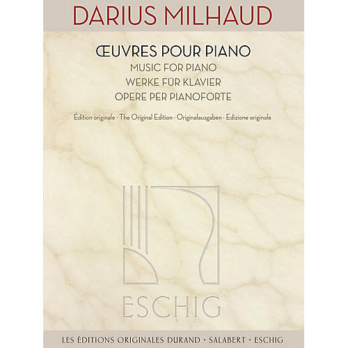 Max Eschig Music for Piano (The Original Edition) Editions Durand Series Softcover Composed by Darius Milhaud thumbnail