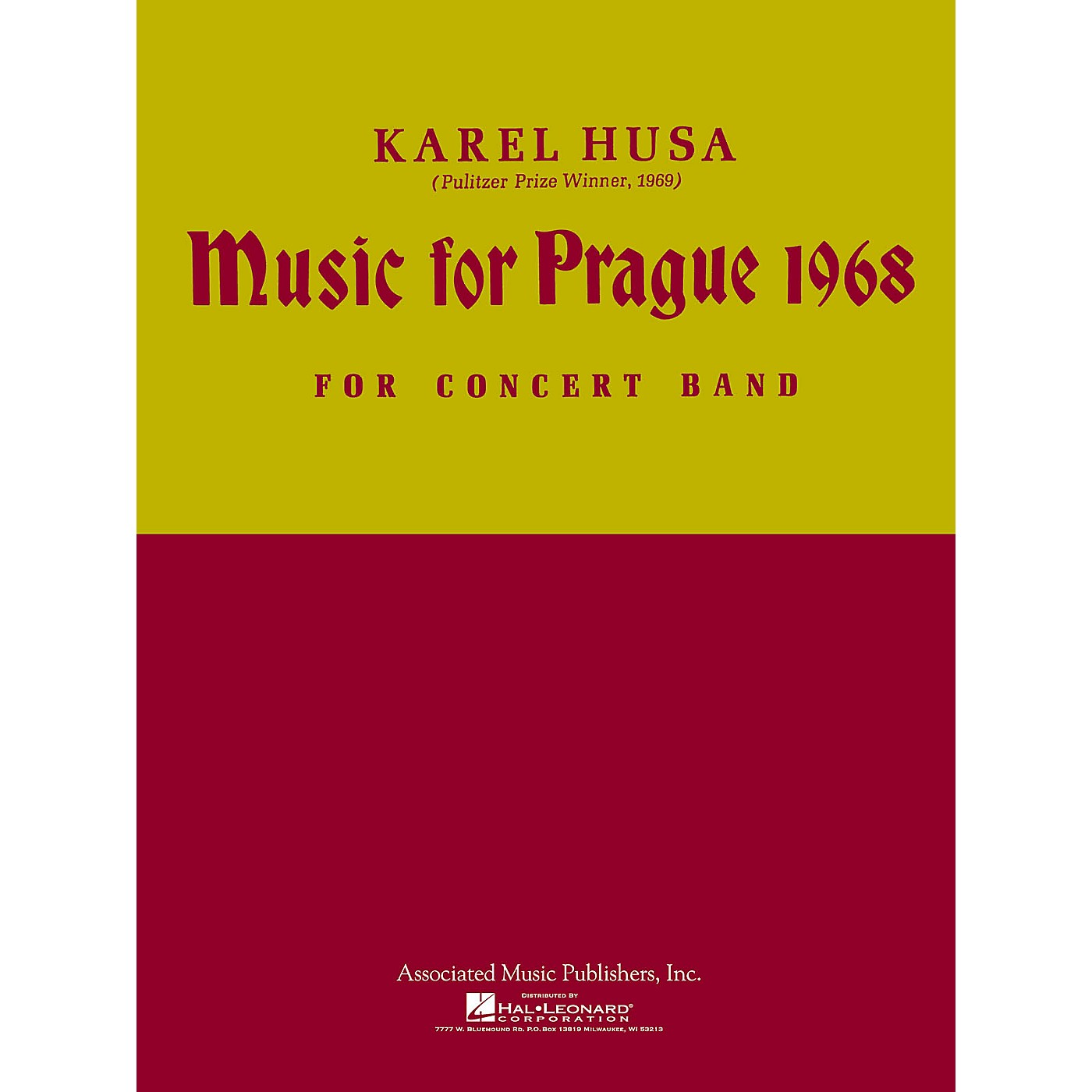 Associated Music for Prague (1968) (Full Score) Concert Band Composed by Karel Husa thumbnail