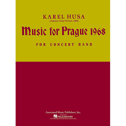 Associated Music for Prague (1968) (Score and Parts) Concert Band Level 4-5 Composed by Karel Husa thumbnail