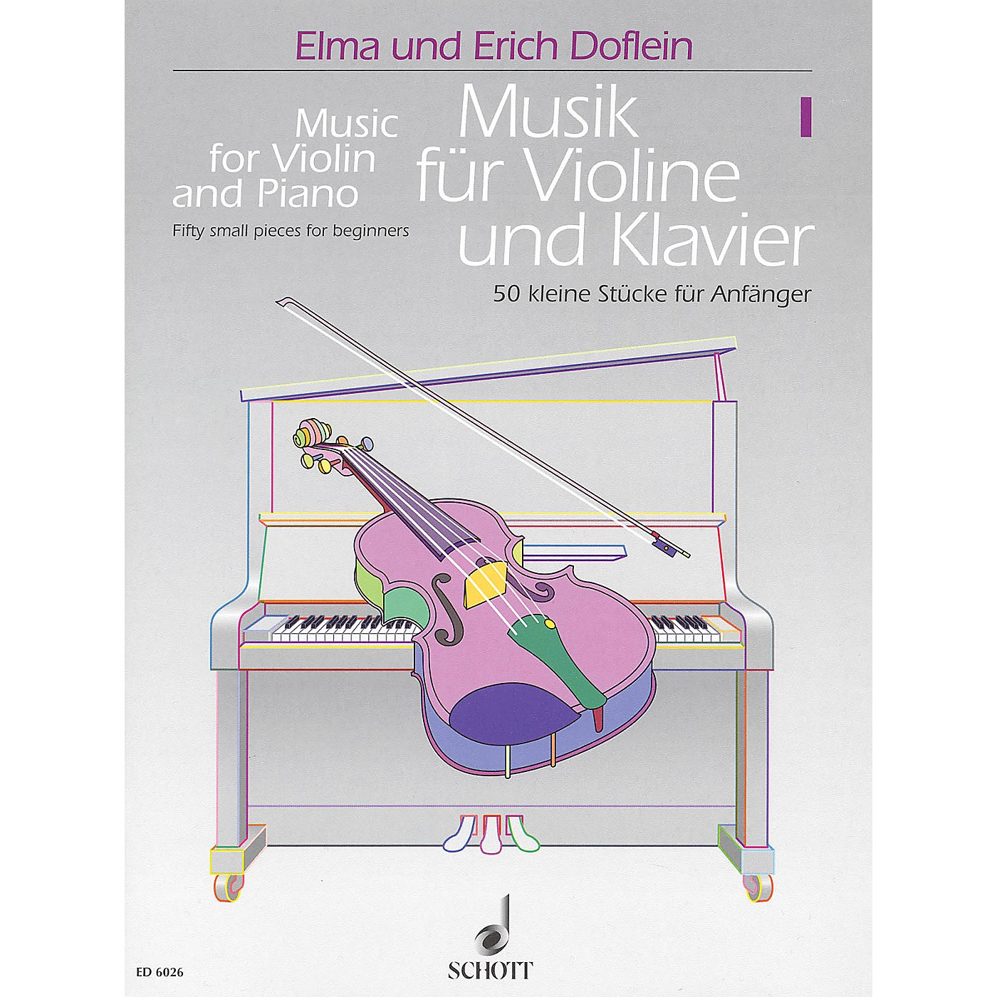 Schott Music for Violin and Piano - Volume 1 (50 Small Pieces for Beginners) Schott Series Softcover thumbnail
