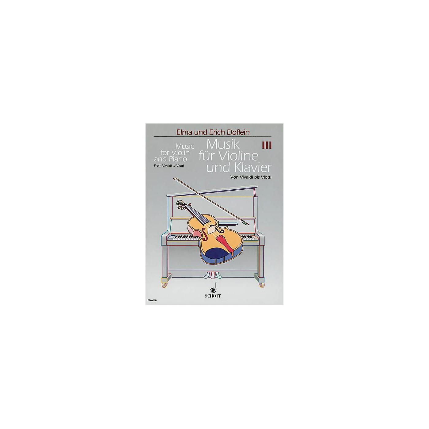 Schott Music for Violin and Piano (Volume 3 - Vivaldi) Schott Series thumbnail