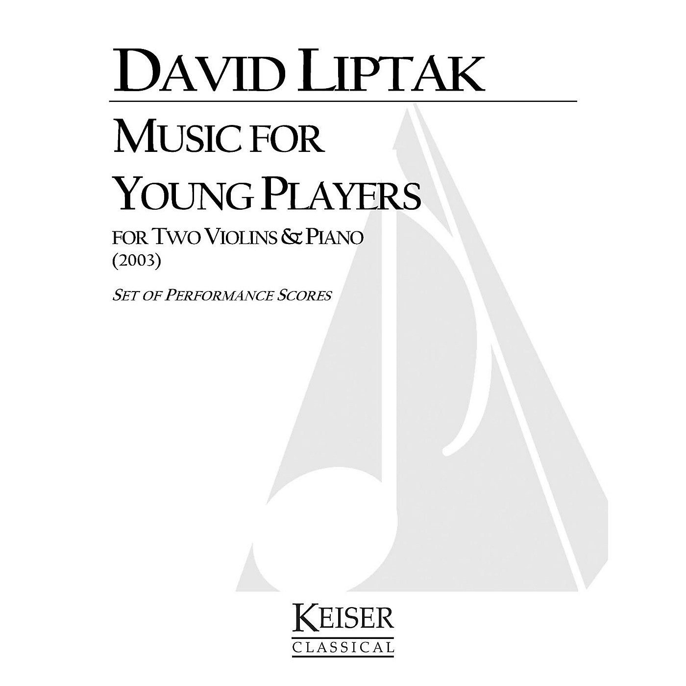 Lauren Keiser Music Publishing Music for Young Players LKM Music Series Composed by David Liptak thumbnail