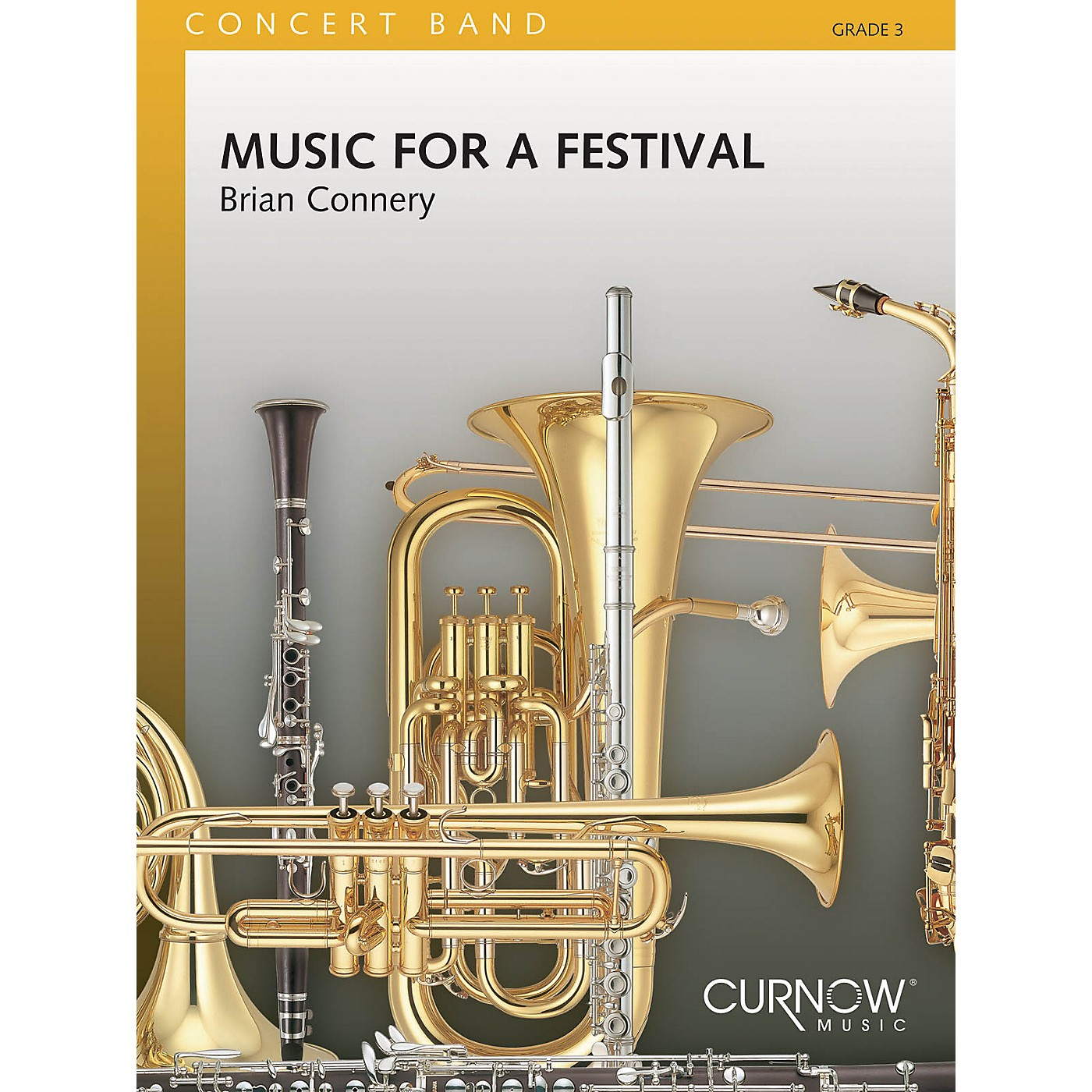 Curnow Music Music for a Festival (Grade 3 - Score Only) Concert Band Level 3 Composed by Brian Connery thumbnail