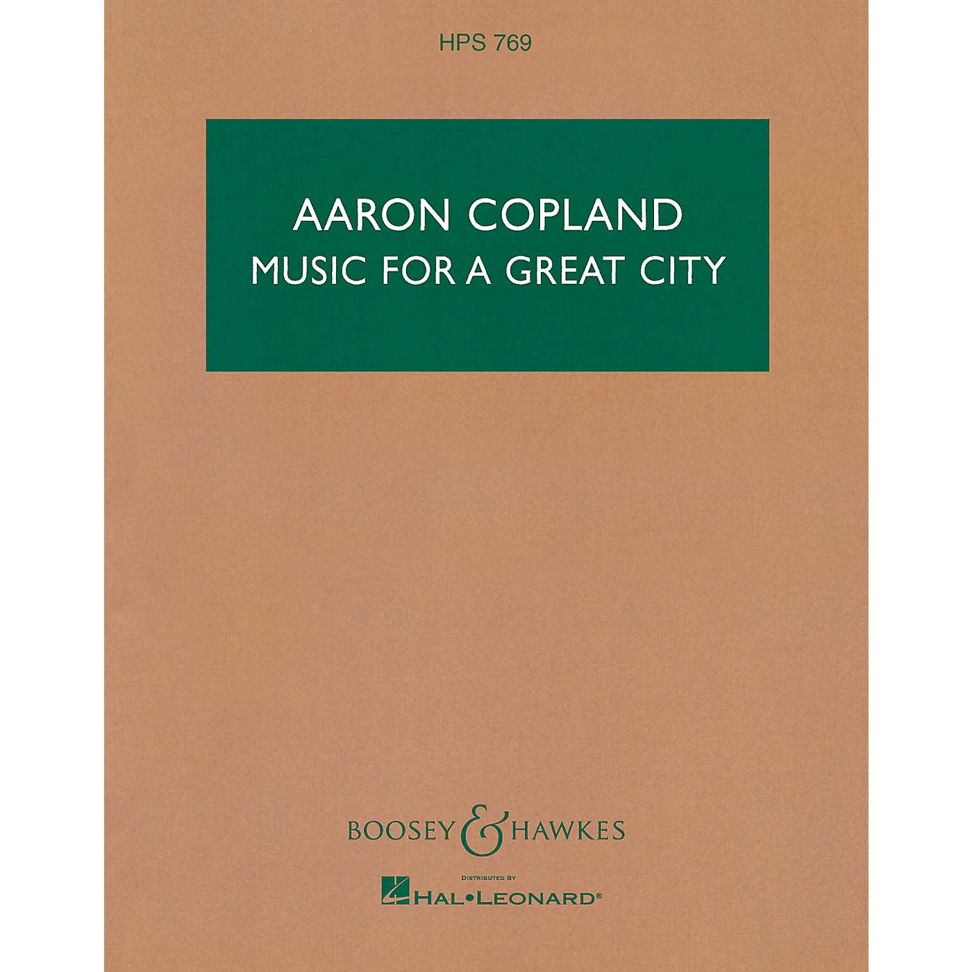 Boosey and Hawkes Music for a Great City Boosey & Hawkes Scores/Books Series Composed by Aaron Copland thumbnail
