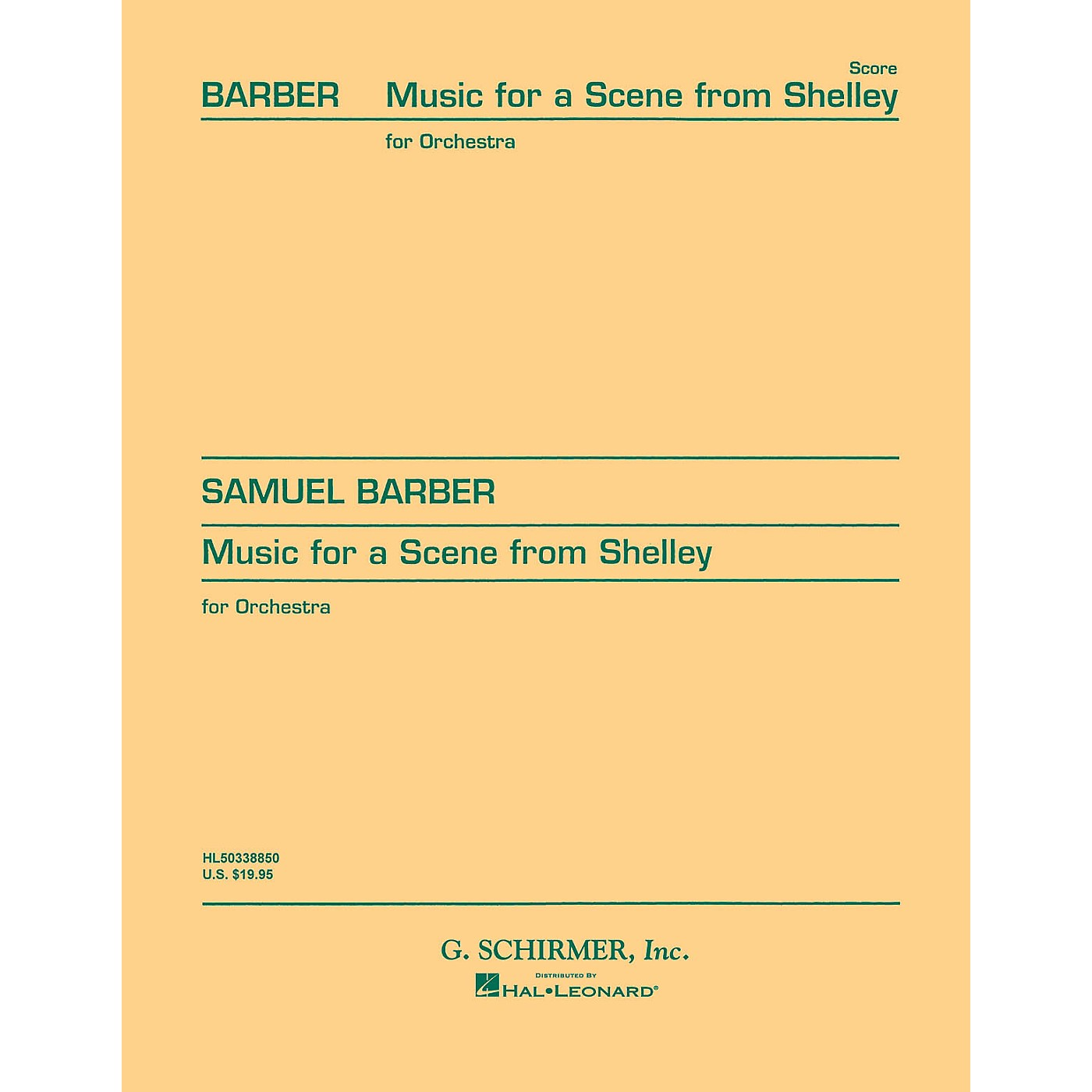 G. Schirmer Music for a Scene from Shelley, Op. 7 (Study Score) Study Score Series Composed by Samuel Barber thumbnail