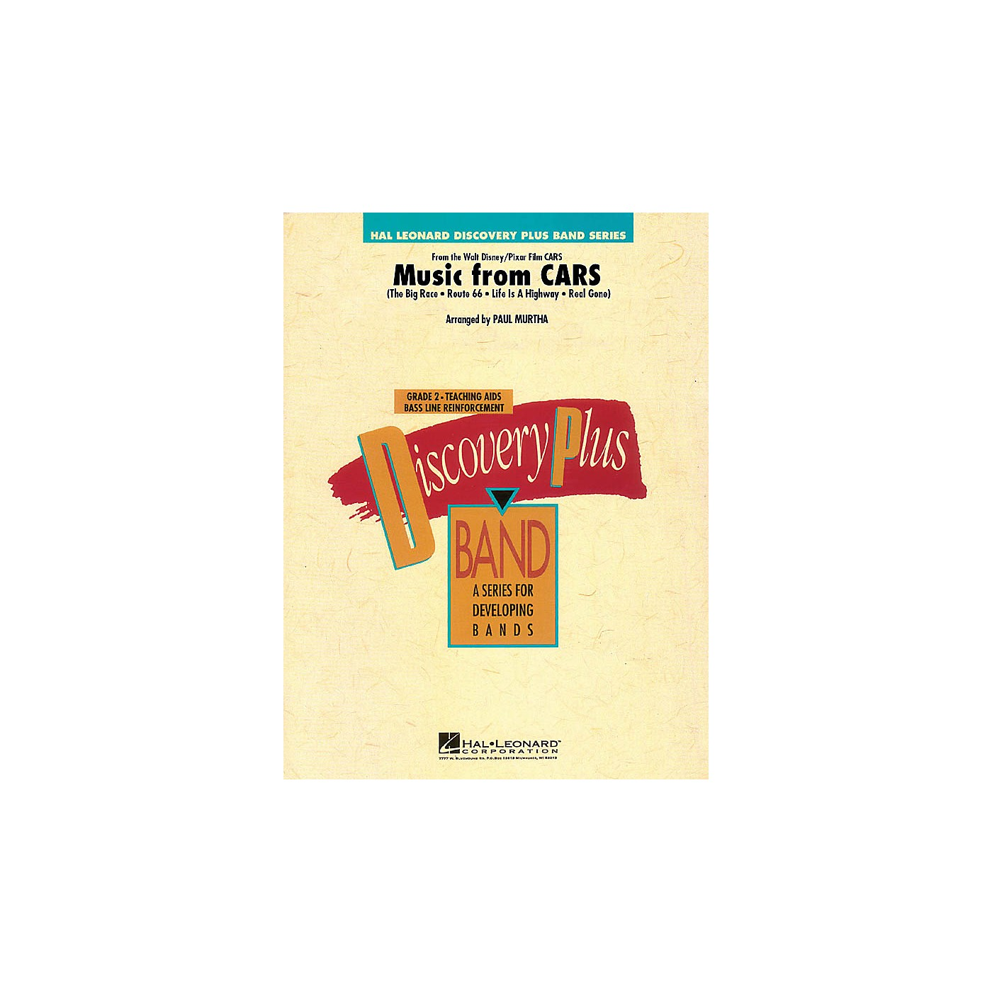 Hal Leonard Music from Cars - Discovery Plus Concert Band Series Level 2 arranged by Paul Murtha thumbnail