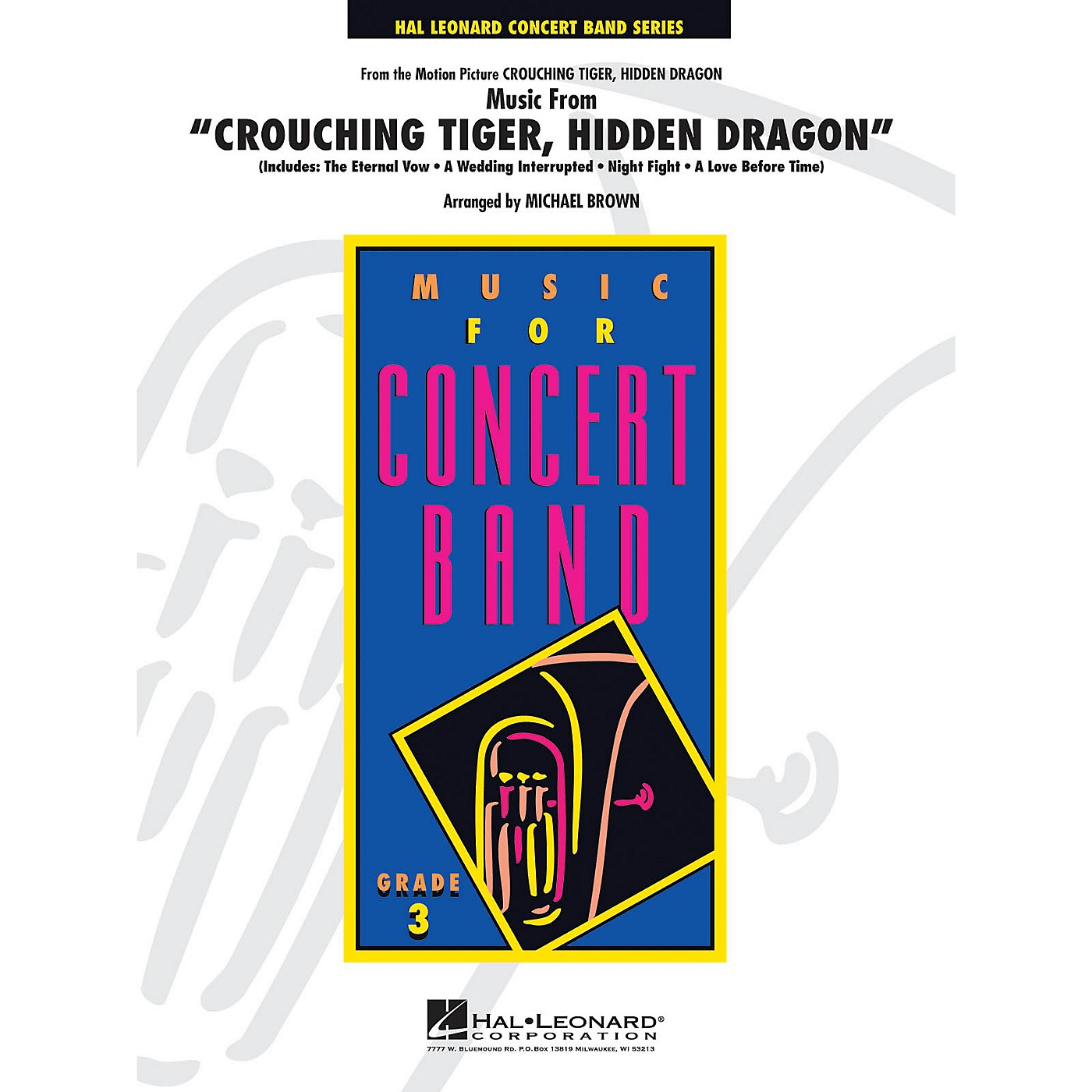 Hal Leonard Music from Crouching Tiger, Hidden Dragon - Young Concert Band Level 3 by Michael Brown thumbnail
