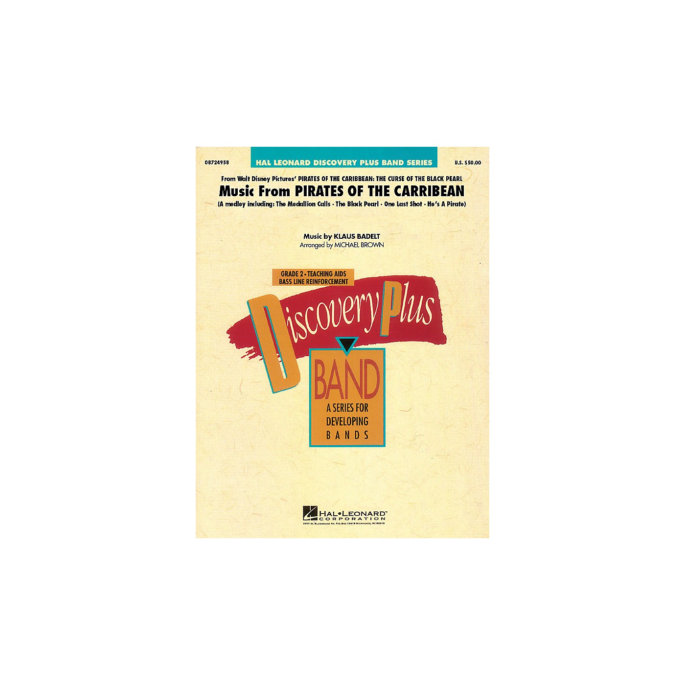 Hal Leonard Music from Pirates of the Caribbean - Discovery Plus Band Series Level 2 arranged by Michael Brown thumbnail