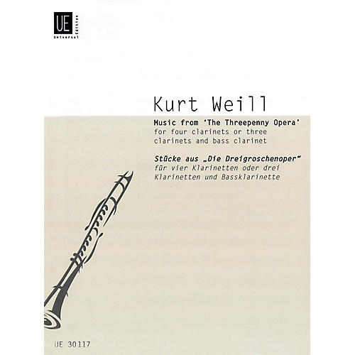 Universal Edition Music from The Threepenny Opera (Score and Parts) Schott Series Composed by Kurt Weill thumbnail