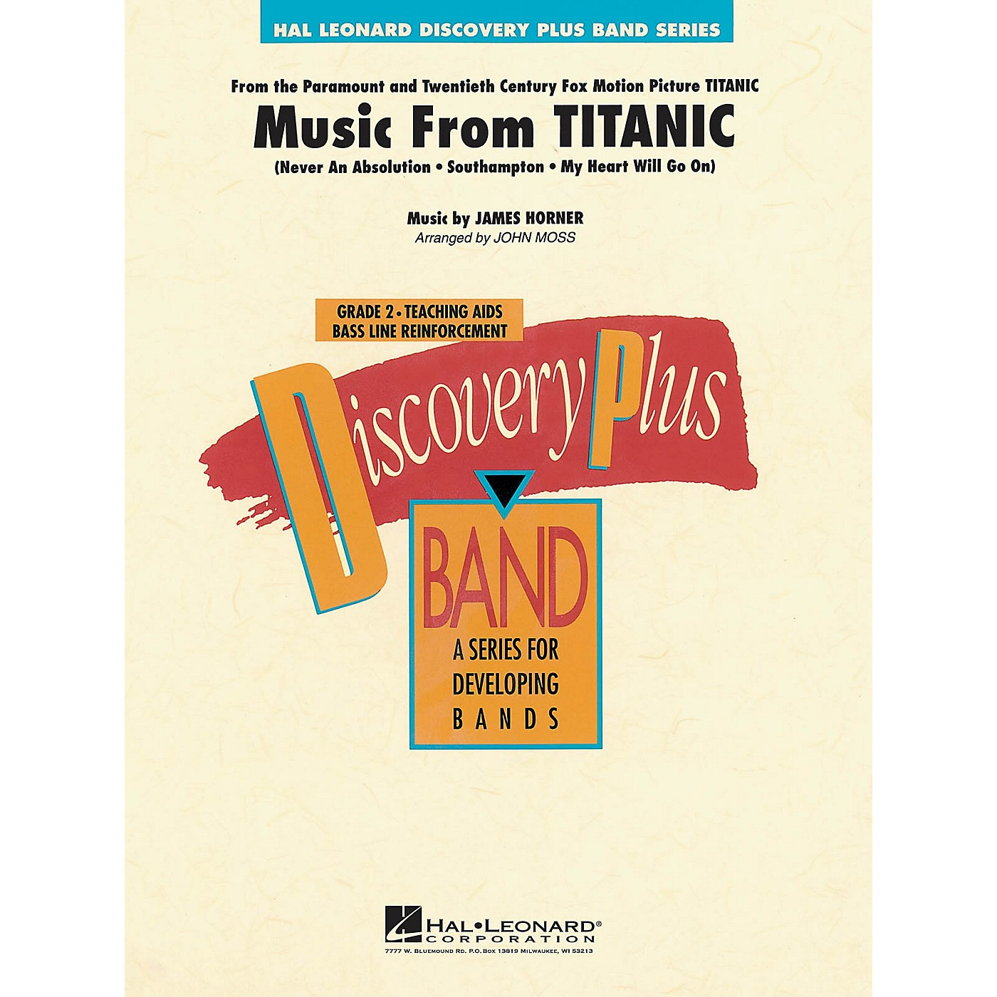 Hal Leonard Music from Titanic - Discovery Plus Concert Band Series Level 2 arranged by John Moss thumbnail