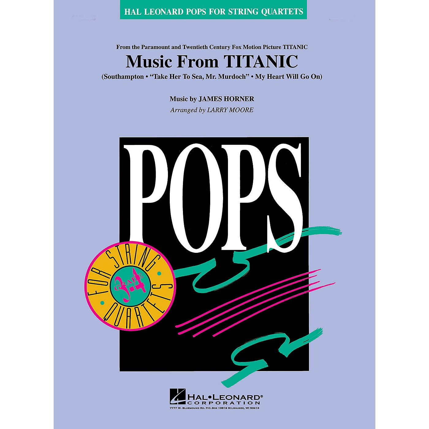 Hal Leonard Music from Titanic Pops For String Quartet Series Arranged by Larry Moore thumbnail