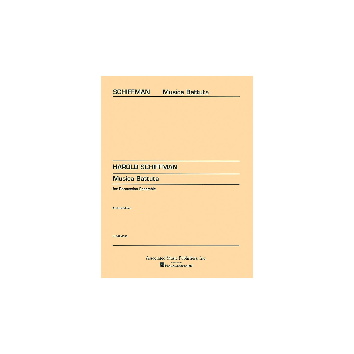 Associated Musica Battuta (Score and Parts) Percussion Series Composed by Harold Schiffman thumbnail