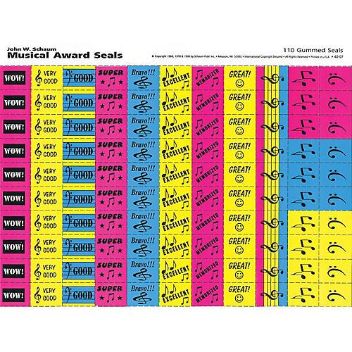 SCHAUM Musical Award Seals (Schaum Teaching Aids) Educational Piano Series Softcover thumbnail