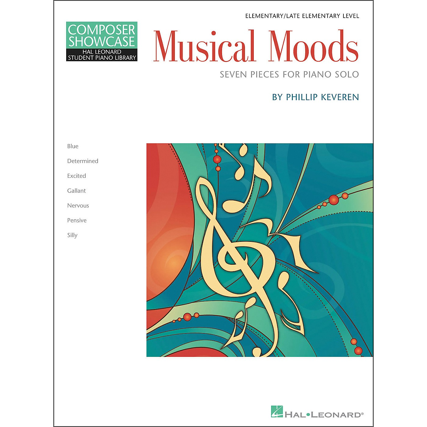 Hal Leonard Musical Moods Elementary/Late Elementary Level Composer Showcase Hal Leonard Student Piano Library by Phillip Keveren thumbnail